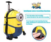 Wholesale Laughter Despicable Me Cartoon D High quality ABS rolling luggage inch Cute child suitcase Intelligent recording kids gift