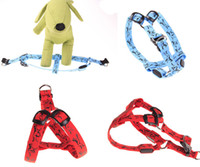 batteries light strap - S M L LED dog harness nylon print light quick slow flash dog chest strap batteries replaceable