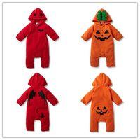 baby holloween costumes - 2016 New Baby cotton polar fleece Hooded Romper Batman Romper Pumpkin Romper Baby toddler Holloween costume