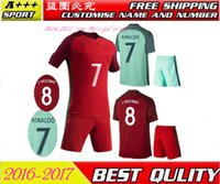 Wholesale Portugales Adult men Top Thai Quality Jerseys kit Adding SL home and away motion de foot shirts