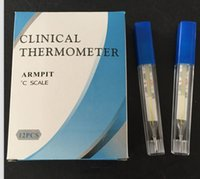 Wholesale glass clinical thermometer mercurial flat thermometer