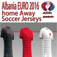 Wholesale Albania Europe cup Jersey home away thai quality Albania football shirt soccer jersey