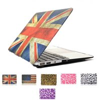 Wholesale Matte Cover Case UK Flag Leopard Pattern Beautiful Smart Shell Case For Macbook Air Pro Retina inch Laptop Ultra thin