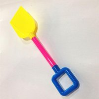 Wholesale Summer beach game toys cm Beach shovel toys with Mesh bag packaging ABS Materia Beach tools toys