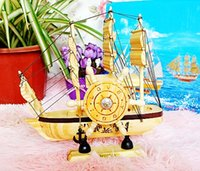 articles gift boxes - Pirate ship wooden sailing boat furnishing articles music household decoration smooth boyfriend gift box
