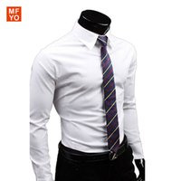 uyuk - UYUK Brand Men Long sleeved Dress Shirts Casual Social Regular Fit Classic Business Casual Work Shirt Men chemise homme XL
