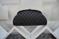 Wholesale Fashion Brand Clutches Genuine Leather Evening Bag Quilted Hasp Celebrity Leather Bag