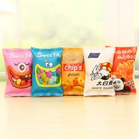 Wholesale Simulation Potato Chips Packing Bags School Pencil Case Cute PU Leather Pen Bag Kawaii Stationery Pouch Office School Supplies
