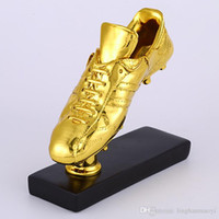 Wholesale European Golden Shoe Trophy Replica Cristiano Ronaldo Messi Soulier d Or Boot Winner Trophy Size