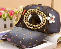 baseball cap parts - Fashion new arrival baseball cap for women andmen sunglass rivet spare parts jean hip hop snapback hat
