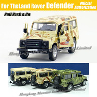 big defender - 1 Scale Diecast Alloy Metal Army Camo Camouflage Military Vehicle Car Model For TheLand Rover Defender Collection Model Toys