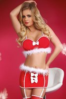 adult lingerie sale - New Year Clothes Sexy Red Womens Christmas Costume Ladies Santa Cosplay Lingerie Fancy Adult Festive Hot Sale Bra Set