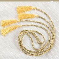 Wholesale New Fasion Beautiful Rope Tassel Window Curtain Fringe Tiebacks Tie Holder Decorative Room Decor Hot Color