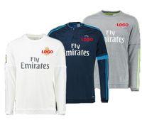 Wholesale Thai quality tracksuits long sleeve jerseys home away shirts Real Madrid man soccer jerseys fashion football shirts suit