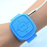 Wholesale 2016 Fashion High Quality Mini Watches Mp3 Player With TF Card Slot Electronic Products sports mini MP3 Music only a Mp3