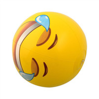 Wholesale Emoji Universe Emoji PVC Inflatable Beach Balls Inflatable Ball Pool Pack Outdoor Play Beach Toys ZD125B