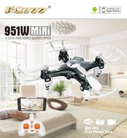 Wholesale F17860 FQ777 W WIFI Mini Pocket Drone FPV CH axis gyro Quadcopter with W Camera Smartphone Holder Transmitter
