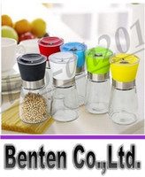 Wholesale Hot selling High Quality Glass Pepper set Salt Herb Spice Hand Grinder Mill manual pepper mill LLFA11