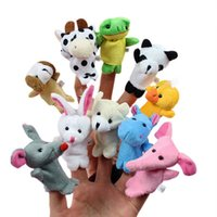 Cheap 10 pcs lot, Baby Plush Toy  Finger Puppets Tell Story Props(10 animal group) Animal Doll  Kids Toys  Children Gift WJ208