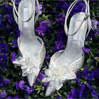Wholesale Cheap Silver Shoes Rhinestones - Sexy 2016 Silver Wedding Shoes Cheap Bridal Bridesmaid Shoes Sparkly Crystal Kitten Heel High Quality Drop Shipping In Stock New