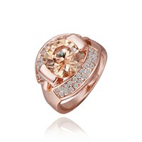 Wholesale Women Ring Fashion Gift Party Wedding Gift gloden rose