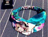 Wholesale new hair ornament lovely beach cross elastic headband south korea version scarf silk printing dual purpose arrival real rushed