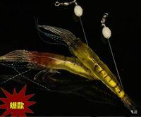 big prawn - New Road sub bait hook bionic shrimp bait lures cm plus the smell of soft luminous beads prawn shrimp