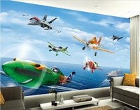 animation wallpapers - 3d wallpaper custom photo non woven mural wall sticker The plane story cartoon animation painting picture d wall room murals wallpaper