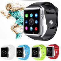 Wholesale A1 Smart Watches Bluetooth Smartwatch Silicone Bracelet Strap Wrist Watch MB MB inch Screen for Android iOS Phone