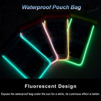 Wholesale Universal Luminous Underwater Phone Bag Waterproof Pouch Bag Dry Case Cover For Cell Phone iPhone plus S6 edge S5 Note waterproof case