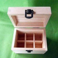 Wholesale Wooden box Essential Oil Wooden Storage Box holes ml ml bottles handmade Multifunction partition Essential oils package