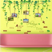 background frames for photos - high quality Creative Personality DIY Vinyl Vine Photo Frame Waterproof Living Room Background Wall Sticker