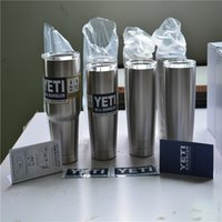 aluminum drinking cups - Hot Bilayer Stainless Steel Insulation Cup OZ YETI Cups Cars Beer Mug Large Capacity Mug Tumblerful A1