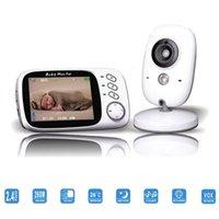 Nouvelle couleur sans fil bébé moniteur vidéo 2 voies de conversation de vision nocturne IR LED Baby Monitor Camera 3,2 pouces avec 8 Lullabies