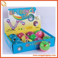 Wholesale NEW Fancy Children Flashing Muticolor Water Polo Bouncing Ball With Ribbon