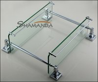 Wholesale 2016 Rushed Promotion modern Bathroom Accessories Products Solid Chrome Finished Double Shelf