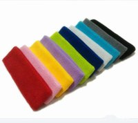 Wholesale New Yoga Outdoor Sports Headband Basketball Head Protection Towels Hair Band Hair Headband Sweat Wash Hair Band Sweatband