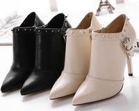Nouveau Pompes Casual atumn Bottes Filles chaussures à talons hauts de femmes talon haut des femmes OL chaussures femme en cuir PU Sexy Pumps Dress rivet chaussures 10.5cm