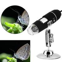 Wholesale 8 LED X USB Digital Microscope Endoscope Magnifier Video Camera Stand