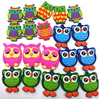 Wholesale Mix Sales PVC Fridge Magnet Multicolor Style Owl Refrigerator Magnetic Sticker For Home Decoration Fridge Decals