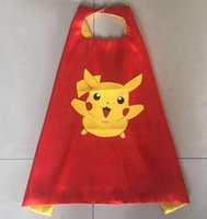 Wholesale 55 Designs CM Double Side cosplay costumes kids Cartoon Cape halloween costumes kids capes with mask