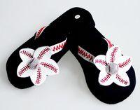 baseball flops - yellow flowers Baseball white leather sandals rhinestone decals big flower shape DIY fashion men beach sports sandals