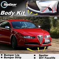 Wholesale Bumper Lip Lips For Alfa Romeo GT AR Onwork Front Skirt Deflector Spoiler For Car Tuning The Stig Recommend Body Kit Strip