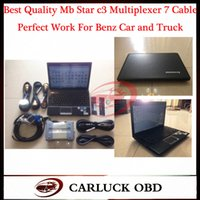Wholesale Best Quality Mb C3 Star Mer ce des Ben z Diagnosis Multiplexer With LAPTOP Lenovo G460 I3 CPU Get R232 to USB Cable as Gift