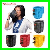 DHL DIY creativo de Lego en la acumulación de ladrillo tazas Pixel <b>Mega Blocks</b> Bloques Ladrillos KRE-O K'NEX compatibles bebida del café Copas