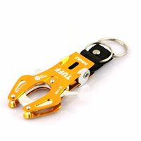 Wholesale 2pcs Durable Carabiner Clip Climb Hook Lock Keyring Keychain Color Golden or Red