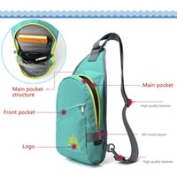 Wholesale Waterproof Nylon Fashion Leisure Sport Casual Outdoor Running Cycling Sling Bag Cross body Chest Bag Unisex Shoulder Backpack