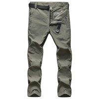 Wholesale Men Summer Quick Dry Hiking Pants Mens Fast Drying Outdoor Trousers Breathable Sport Pants For Camping Fishing Trekking NA371