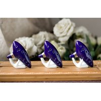Wholesale Hole Ocarina Instrument Ceramic Alto C Legend of Zelda Ocarina Flute Blue Hot Worldwide