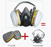 Wholesale 6200 Suit Respirator Painting Spraying Face Gas Mask N11 New